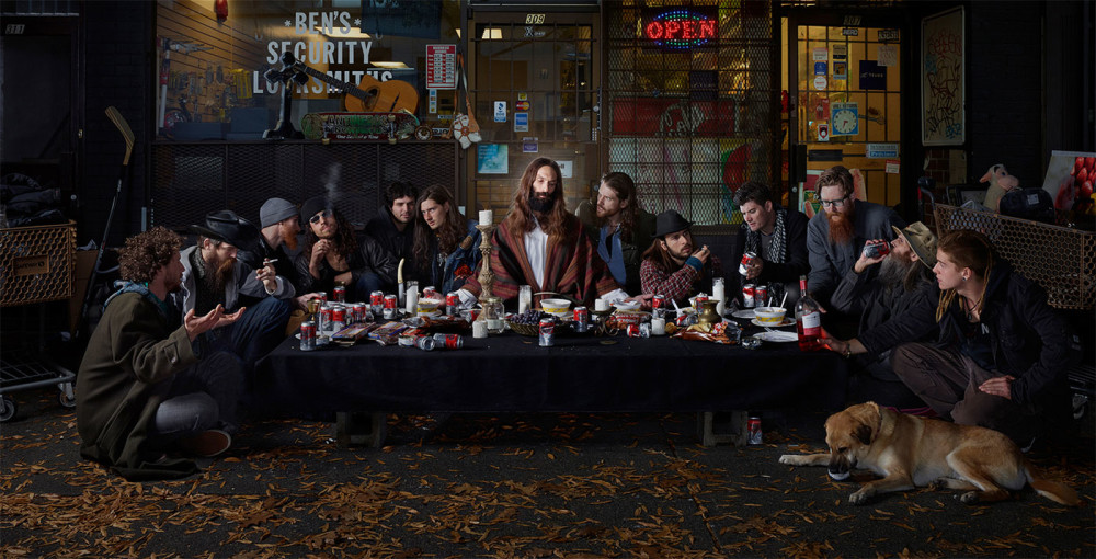 Dina-Golstein_Last-Supper-east vancouver_serie gods of suburbia-2014